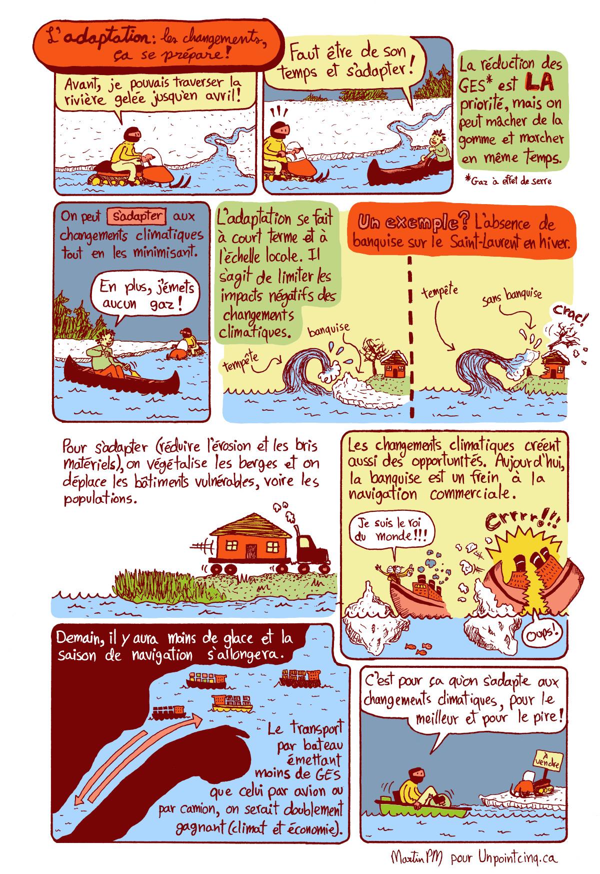 bande dessinée martin pm adaptation changements climatiques